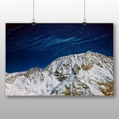 Big Box Art Mt Denali Mckinley Mountain No.1 Photographic Print Wrapped on Canvas