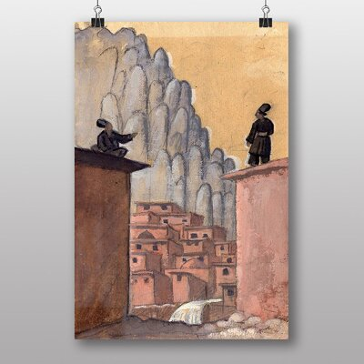 Big Box Art Kurds on the Roof by Jazeps Grosvalds Art Print