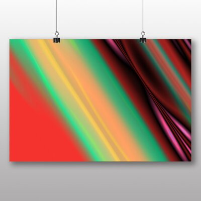 Big Box Art Abstract No.9 Graphic Art Wrapped on Canvas