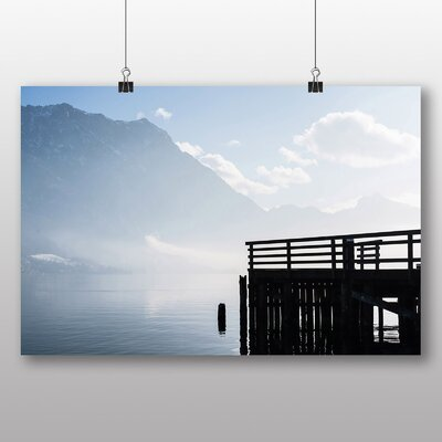 Big Box Art 'Jetty and Mountain' Photographic Print