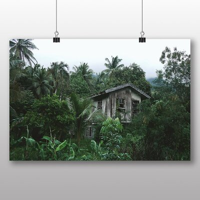 Big Box Art Hut in Forest No.2 Photographic Print on Canvas