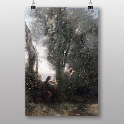 Big Box Art Cupids by Jean-Baptiste Camille Corot Art Print