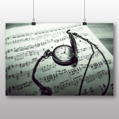 Big Box Art Music Sheet No.4 Photographic Print Wrapped on Canvas