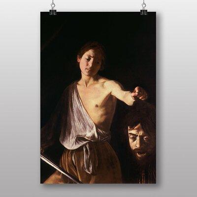 Big Box Art David with the Head of Goliath by Michelangelo Caravaggio Art Print