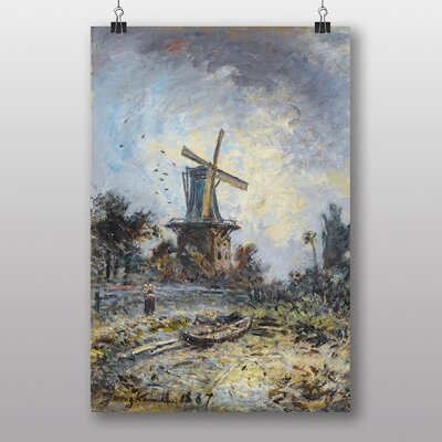 "Big Box Art ""Windmill"" by Johan Jongkind Art Print"