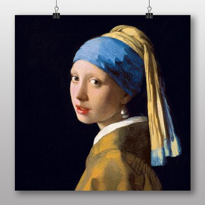 Big Box Art 'The Girl with the Pearl Earring No.2' by Johannes Vermeer Art Print