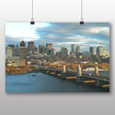 Big Box Art Massachusetts Boston Skyline USA Photographic Print Wrapped on Canvas