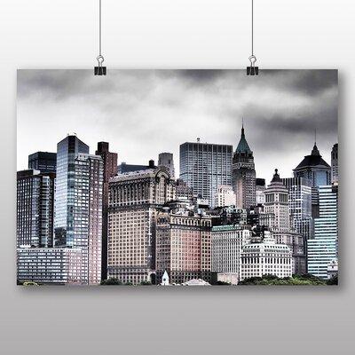 Big Box Art New York City Skyline USA No.25 Graphic Art Wrapped on Canvas