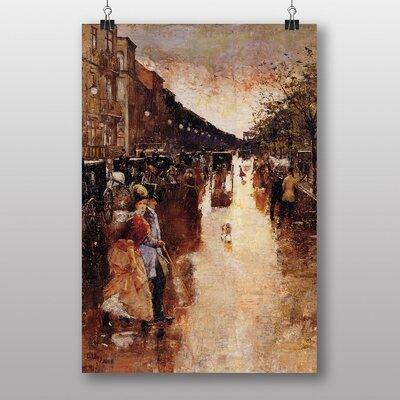 "Big Box Art ""Berlin Street"" by Lesser Ury Art Print"