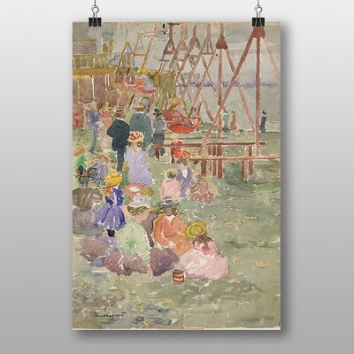 "Big Box Art ""Swings Revere Beach"" by Maurice Prendergast Art Print"