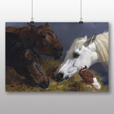 Big Box Art 'Three Horses' by John Frederick Herring Art Print