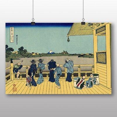 "Big Box Art ""Japanese Oriental Sazai Hall"" by Hokusai Art Print"