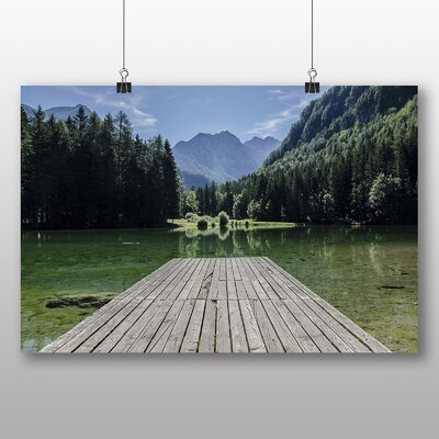 Big Box Art Lake and Jetty Photographic Print Wrapped on Canvas