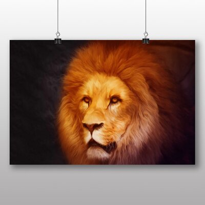 Big Box Art Lion No.4 Graphic Art on Canvas