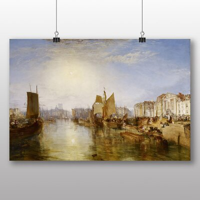 Big Box Art 'The Harbor of Dieppe' by Joseph Mallord William Turner Art Print