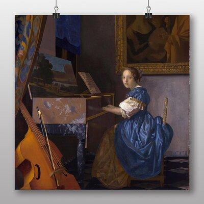 Big Box Art 'Playing an Instrument' by Johannes Vermeer Art Print