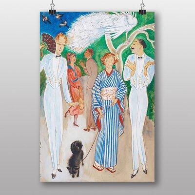 "Big Box Art ""Svarta Diana"" by Nils von Dardel Art Print on Canvas"