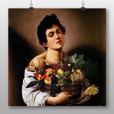 Big Box Art 'Boy with a Basket of Fruit' by Michelangelo Caravaggio Art Print
