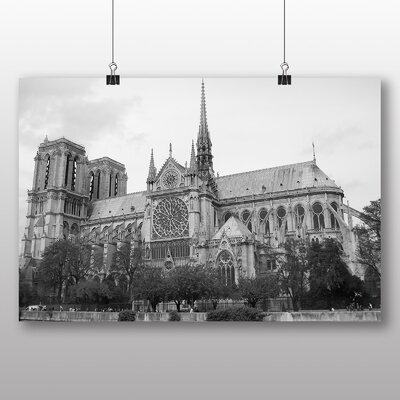 Big Box Art Notre Dame Cathedral Paris France Photographic Print Wrapped on Canvas