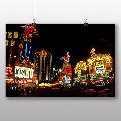 Big Box Art Las Vegas Strip Skyline Nevada USA No.4 Photographic Print Wrapped on Canvas
