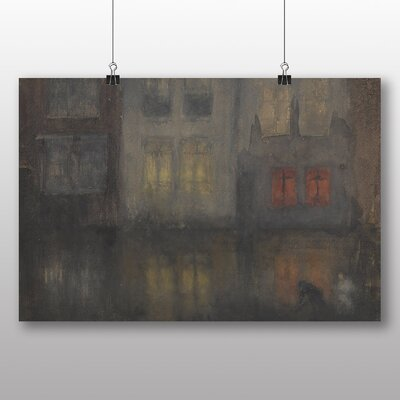 Big Box Art 'Noctunre Black and Red' by James McNeill Whistler Art Print