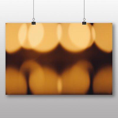 Big Box Art 'Orange Blurred Lights' Photographic Print