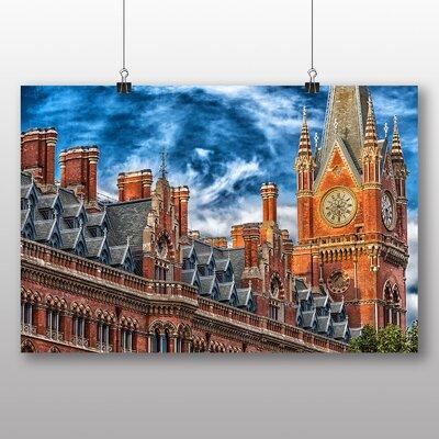 Big Box Art London Landscape No.1 Graphic Art Wrapped on Canvas