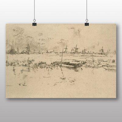 Big Box Art 'Zaandam the Netherlands' by James McNeill Whistler Art Print