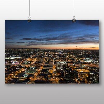 Big Box Art Los Angeles Skyline California USA Photographic Print