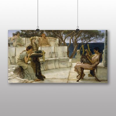 Big Box Art 'Sappho and Alcaeus' by Lawrence Alma Tadema Art Print