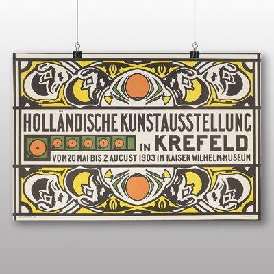 Big Box Art 'Prikker Dutch Art Exhibition' by Jan Thorn Vintage Advertisement