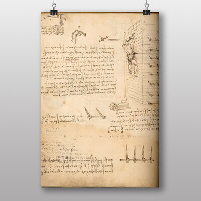 Big Box Art Leonardo Study from Da Vinci Manuscript Art Print