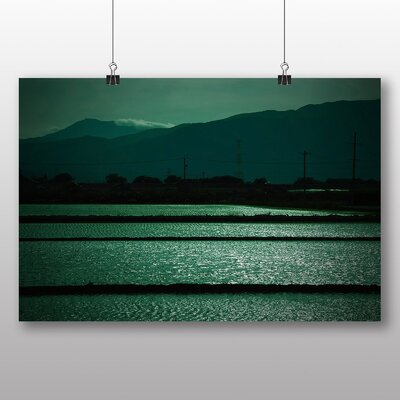 Big Box Art Landscape at Dusk Photographic Print