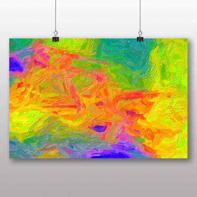 Big Box Art Abstract No.1 Graphic Art Wrapped on Canvas