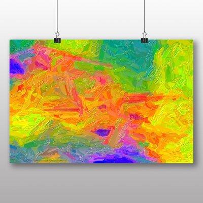 Big Box Art Coloured Abstract No.1 Art Print