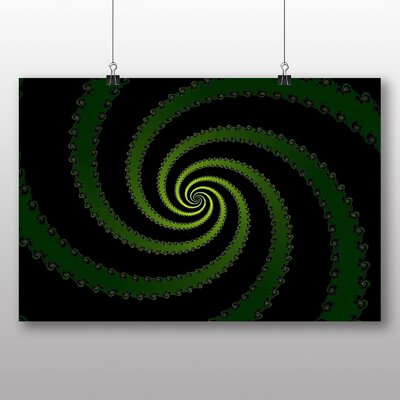 Big Box Art Mixed Colour Fractal Abstract No.29 Graphic Art Wrapped on Canvas