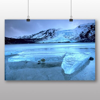 Big Box Art Iceland Photographic Print Wrapped on Canvas