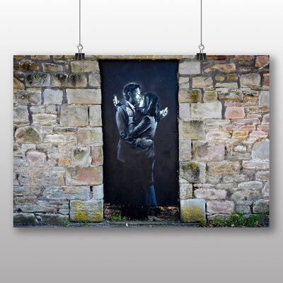 "Big Box Art ""Mobile Lovers Graffiti"" by Banksy Art Print"