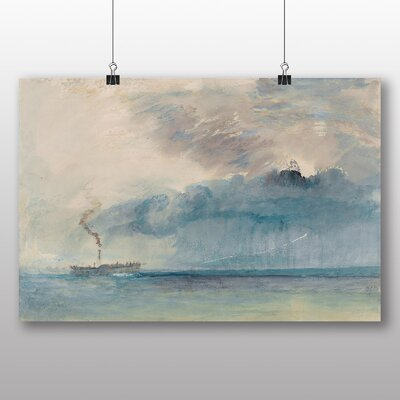 Big Box Art 'A Paddle Steamer' by Joseph Mallord William Turner Art Print