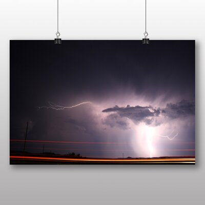 Big Box Art Lightening Storm Graphic Art Wrapped on Canvas