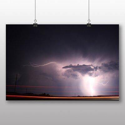 Big Box Art Lightening Storm Photographic Print