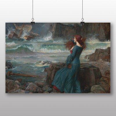 Big Box Art 'Miranda the Tempest' by John William Waterhouse Art Print