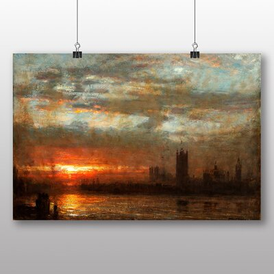 Big Box Art 'Westminster Sunset' by Joseph Mallord William Turner Art Print