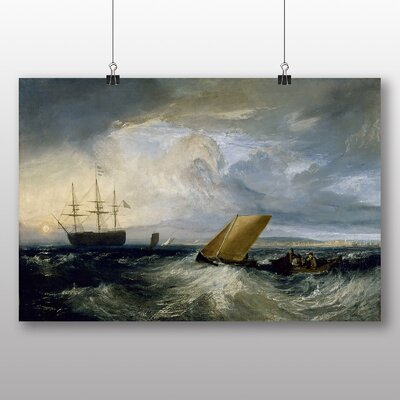 Big Box Art 'Heerness as Seen from the Nore' by Joseph Mallord William Turner Art Print