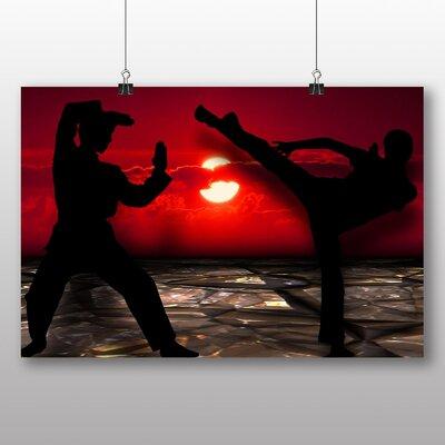 Big Box Art Martial Arts Sunset Graphic Art on Canvas