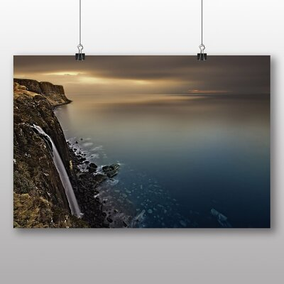 Big Box Art Isle of Skye Scotland Waterfall Photographic Print Wrapped on Canvas