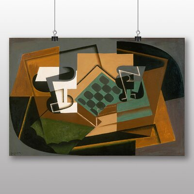 Big Box Art 'Chessboard and Glass' by Juan Gris Graphic Art