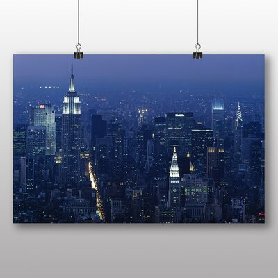 Big Box Art New York City Skyline USA No.16 Photographic Print Wrapped on Canvas