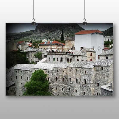 Big Box Art Mostar Bosnia and Herzegovina Photographic Print Wrapped on Canvas