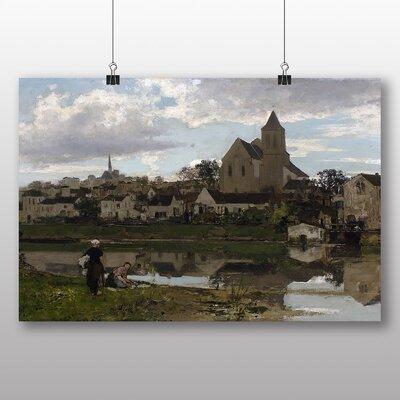 Big Box Art View at Montigny sur Loing' by Jacob Maris Art Print